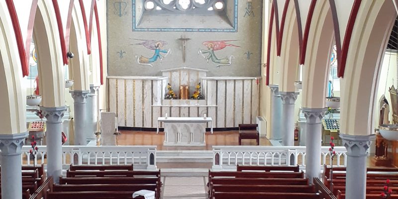 Sunday Masses 19th / 20th September for Parishioners. 6pm Vigil Mass will be in the Cemetery. Sunday Morning 10am Mass in St. Mary's Church with celebration of reception of Holy Communion for the first time. 12noon Mass – in the Cemetery. Please adhere to Guidelines and physical distance between families /individuals of 2m.